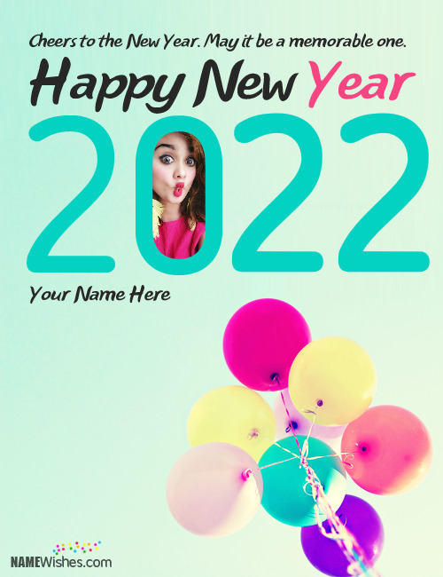 Unique New Year Wishes With Name and Photo