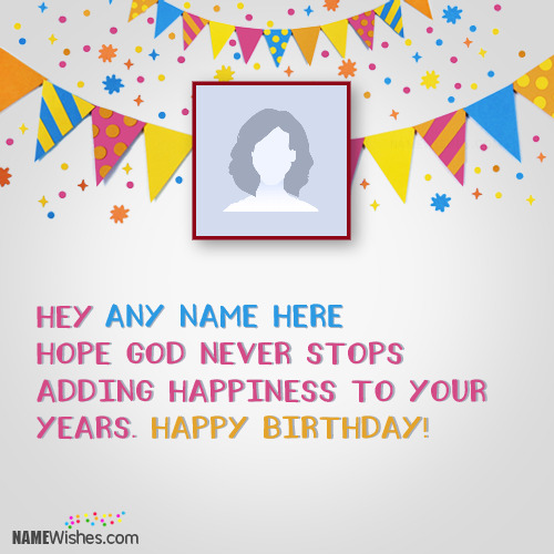 Vector Cool Birthday Wish With Name