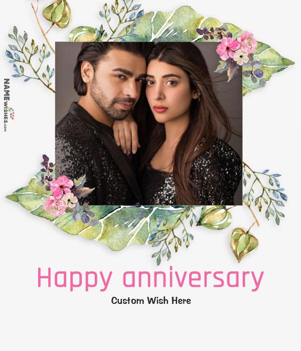 Wedding Anniversary Wish With Photo and Name
