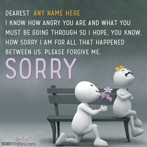 Write Any Name on Apology Quotes