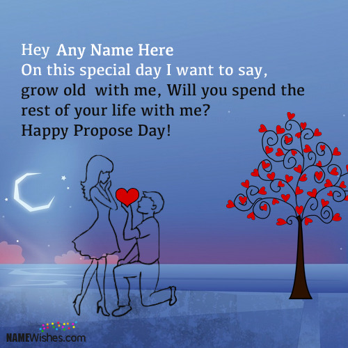 Write Couple Names On Happy Propose Day Wishes