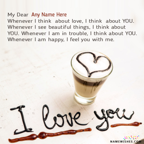 Write Name on Cool I Love You Images