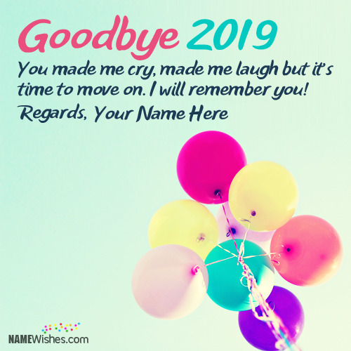 Goodbye 2018 Quotes With Name