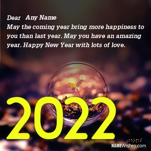 Write Name on New Year Quotes 2021