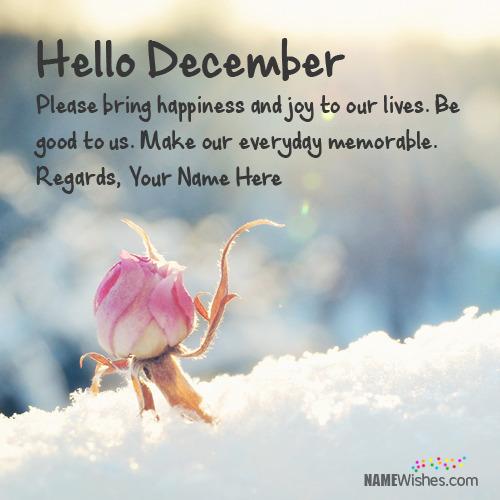 Write Name On Hello December Wishes