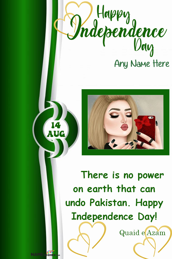 Write Name on Independence Day Wish and Pic Editor