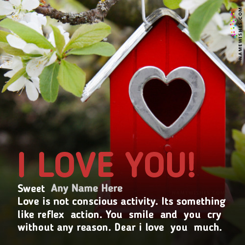Write Name on Lovely I Love You Images