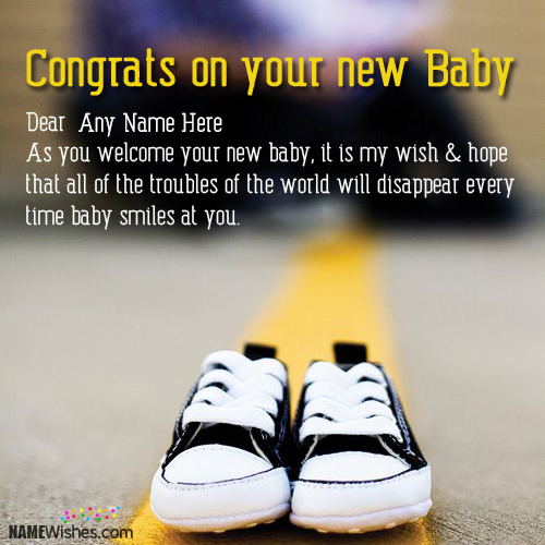 Write Name On New Born Baby Wishes
