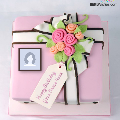 Write Name on New Happy Birthday Cake