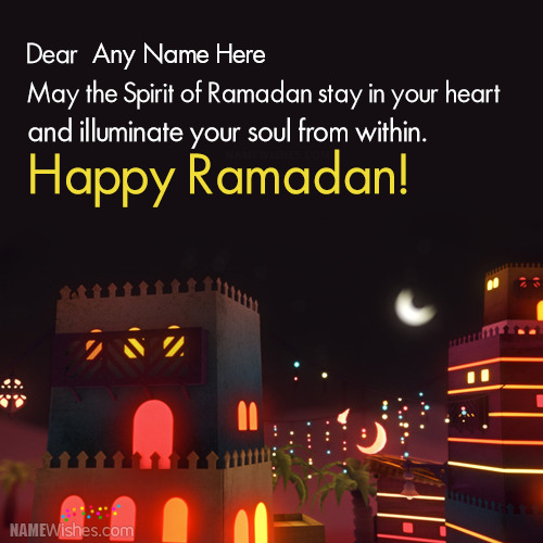 Write Name on Ramadan Mubarak Wishes