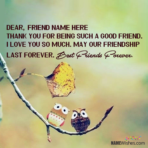 Write Your Name on Friendship Quotes