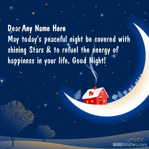 Write Your Name on Good Night Wishes