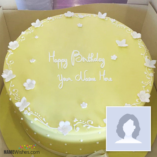 Yellow Ice Cream Birthday Cake